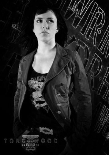 Eve Myles black and white poster