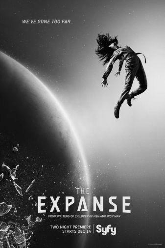 Expanse black and white poster