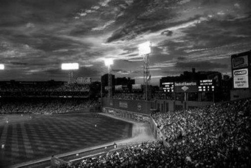 Fenway Park black and white poster