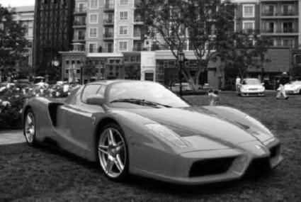 Ferrari Enzo Poster Black and White Mini Poster 11