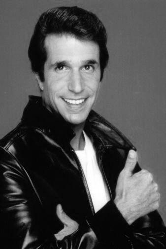 Fonzie black and white poster