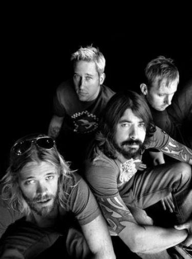 Foo Fighters black and white poster