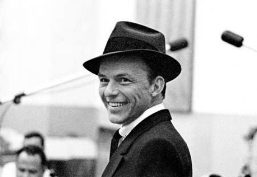 Frank Sinatra black and white poster