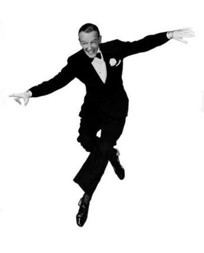 Fred Astaire black and white poster