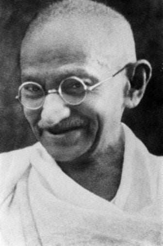 Gandhi black and white poster