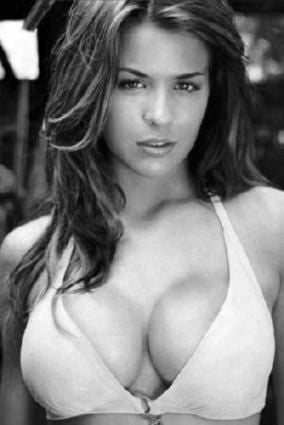 Gemma Atkinson Poster Black and White Mini Poster 11