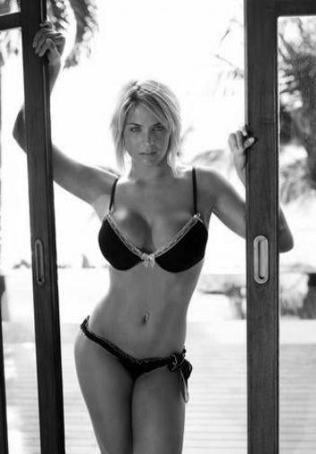 Gemma Atkinson black and white poster