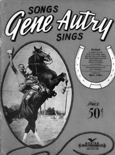 Gene Autrey black and white poster