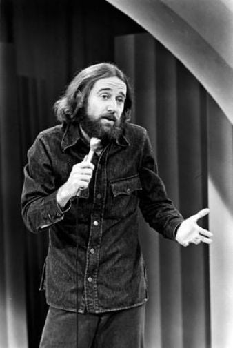 George Carlin black and white poster