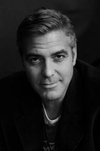 George Clooney Poster Black and White Mini Poster 11