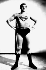 George Reeves black and white poster