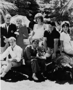 Gilligans Island black and white poster