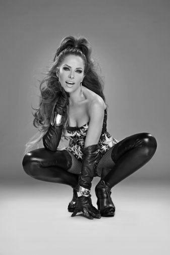 Gloria Trevi black and white poster