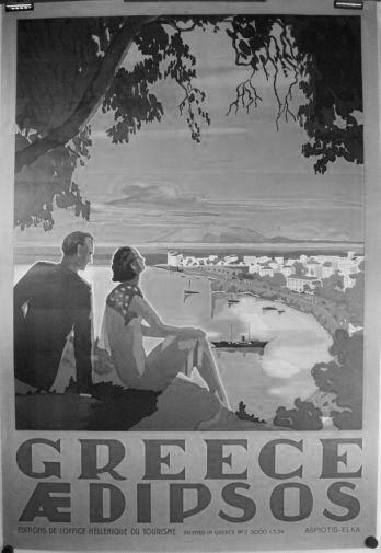 Greece poster tin sign Wall Art
