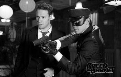 Green Hornet black and white poster