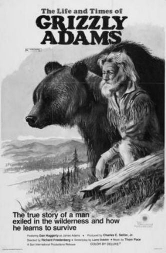 Grizzly Adams Poster Black and White Mini Poster 11