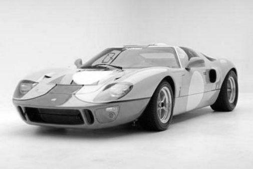 Gt40 black and white poster
