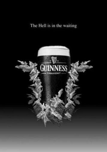 Guinness black and white poster