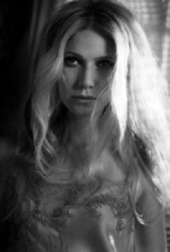 Gwyneth Paltrow black and white poster