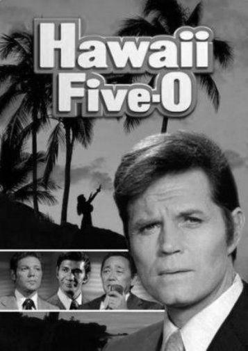 Hawaii Five-O Original Series black and white poster