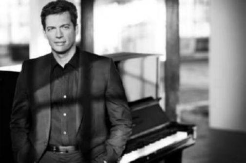 Harry Connick Jr black and white poster