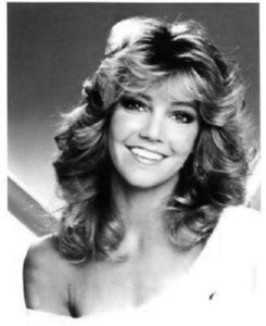 Heather Locklear black and white poster