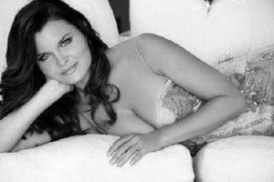 Heather Tom black and white poster