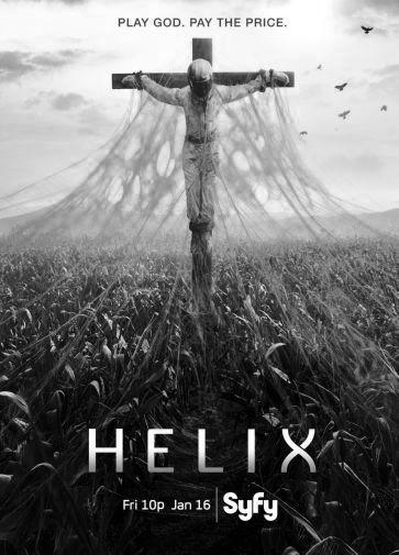 Helix black and white poster