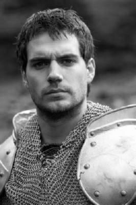 Henry Cavill black and white poster