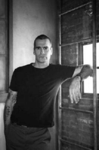 Henry Rollins black and white poster