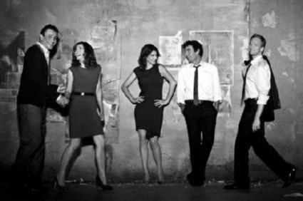 How I Met Your Mother black and white poster