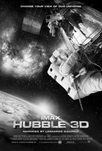 Hubble Telescope 3D black and white poster