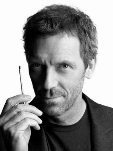 Hugh Laurie black and white poster