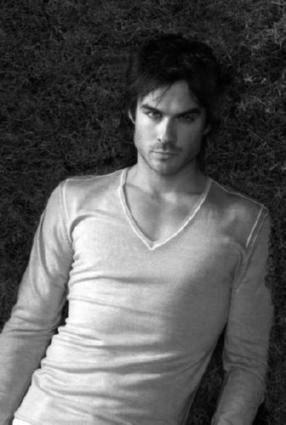 Ian Somerhalder black and white poster