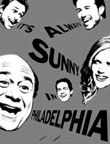 Its Always Sunny In Philadelphia Poster Black and White Mini Poster 11