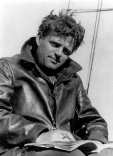 Jack London black and white poster