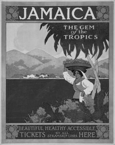 Jamaica poster tin sign Wall Art