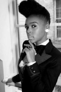 Janelle Monae black and white poster