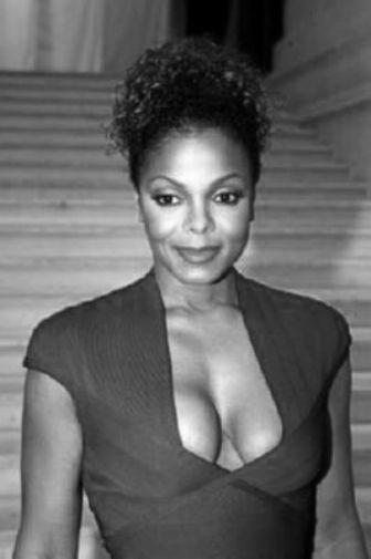 Janet Jackson black and white poster
