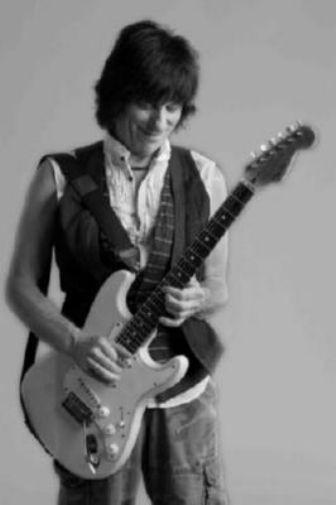 Jeff Beck black and white poster