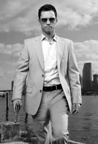 Jeffrey Donovan black and white poster