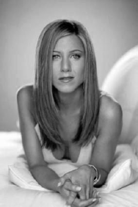 Jennifer Aniston black and white poster