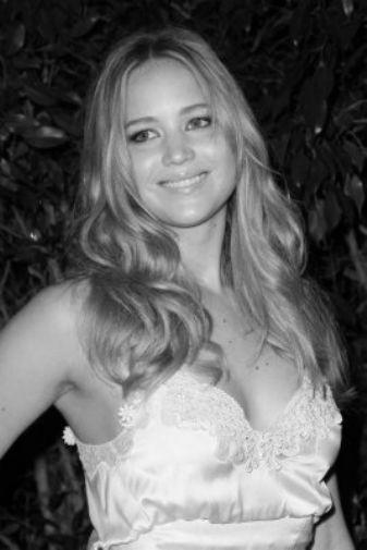Jennifer Lawrence black and white poster