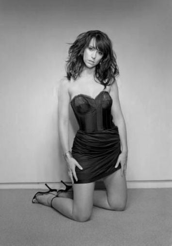 Jennifer Love Hewitt black and white poster
