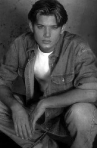 Jensen Ackles black and white poster