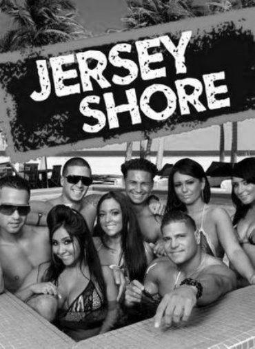 Jersey Shore black and white poster