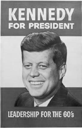 John F Kennedy black and white poster