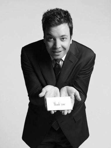 Jimmy Fallon black and white poster