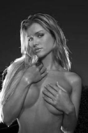 Joanna Krupa black and white poster