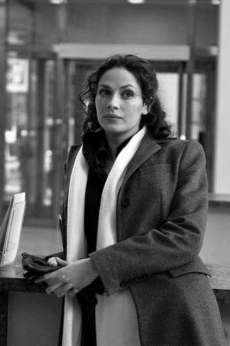 Joanne Kelly black and white poster